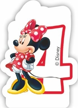 Minnie svíčka narozeniny číslo 4
