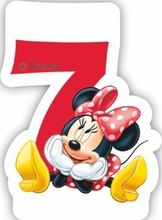 Minnie svíčka narozeniny číslo 7