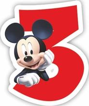 Mickey dortová svíčka číslo 3