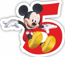 Mickey dortová svíčka číslo 5
