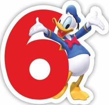 Mickey dortová svíčka číslo 6