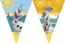 Frozen Olaf vlajka 9ks