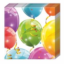 Ubrousky balónky 20ks 2-vrstvé 33cm x 33cm