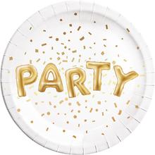 Talíře Party zlaté 8 ks 23 cm