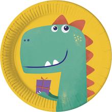 Dinosaurus talíře papírové 23 cm 8 ks