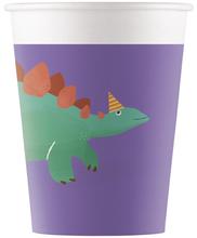 Dinosaurus kelímky papírové 8 ks 200 ml