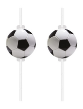 Fotbal slámky na pití papírové 4 ks