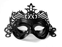 Maska černá s ornamentem