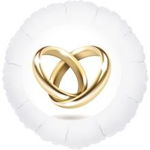 Prstýnky balónek kruh bílý